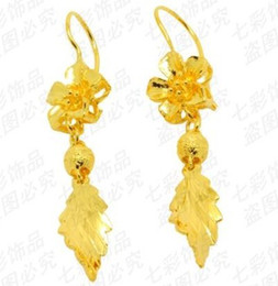 wholesale hot selling gold filled Rose earrings free shipping