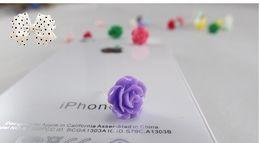 wholesale hotsale fashion multicolor Resin rose Stud earrings flower earrings for women flower earrings Xmas Gifts HY1