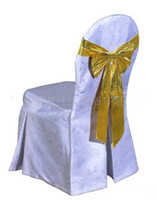 Wholesale chair cover with sash noniron chair cover