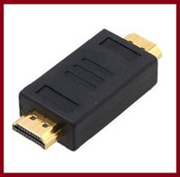 Cheap Wholesale Free shipping HDMI MALE TO HDMI MALE Adapter for HDTV LCD Gold Plated Connector
