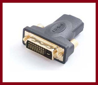 Cheap wholesale DVI M TO HDMI F Adapter for HDTV LCD Gold Plated Connector