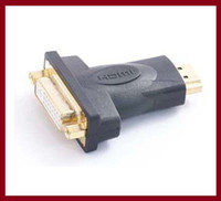 Cheap wholesale free shipping DVI Female TO HDMI Male Adapterfor HDTV LCD Gold Plated Connector