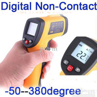 Wholesale 20pcs Digital Non Contact Laser IR Thermometer degree to degree dropshipping