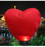 Wholesale Heart shape china sky lantern flying lantern KongMing lantern paper lantern Degradable