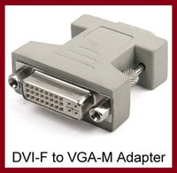 Cheap Wholesale Free shipping DVI Female TO VGA Malle Adapter for HDTV LCD Gold Plated Connector