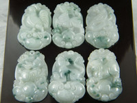 Wholesale Natural Burma jade manual sculpture zodiac chicken pig horse rabbit dog snake pieces
