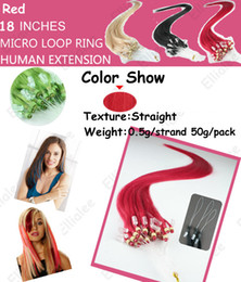 Wholesale 18 quot g S micro bead hair extensions red brazilian huaman remy hair extensions Mix color HL236