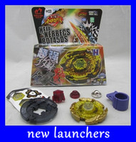 Wholesale NEW launchers styles mix Beyblade d games Top Clash Metal Beyblades kids Toys drop shipping