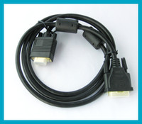 Free shipping Premuim DVI- I male 24+ 1 to VGA 15 Pin Male Mal...