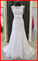 Lastest Beauty Real Sample Sheath Straps Lace Wedding Dress ...