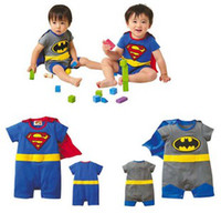 Wholesale Superman batman rompers Baby infants romper Baby jumpsuits Baby One Piece rompers baby onesies
