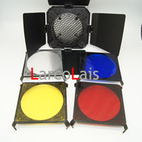 Wholesale Universal Photographic Equipment MM Barn Door Kit with Honeycomb Grid and Colour Filter Set