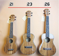 Wholesale Recommended new UKULELE zebra wood panel and dorsal plate Soprano Concert Tenor