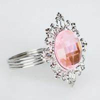 Wholesale Pink Gem Napkin Ring For Wedding