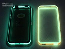 300 pièces Glow in the Dark Noctilucent Pare-chocs Frame TPU Case couverture pour 10 couleurs