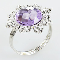 Wholesale Wedding Purple Gem Napkin Ring Brand New
