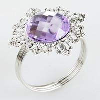 Cheap Iron napkin ring Best ECO Friendly  wedding purple