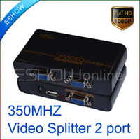 Wholesale 2 Ports High Quality mini VGA Video Splitter MHz D3092A