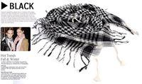 Wholesale Unisex Women Man Checkered Arab Grid scarf wrap Shawl Wrap Scarves