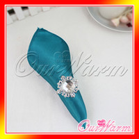 Wholesale 100 Teal Blue quot Square Satin Dinner Napkins or Handkerchiefs Wedding Party Color Table Serviettes