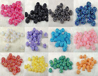 Acrylic, Plastic, Lucite resin - 200PCS MM MM MM MM Mixed Color Rhinestone EXPOY Balls Resin Crystal Pave Spacer Loose Beads