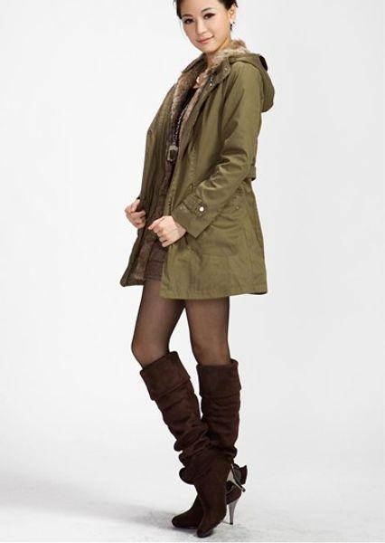 European Brand Fur Hood Leather Shoulder Patch Thick Cotton Vest Jacket Women Winter 2015 Women Fashion