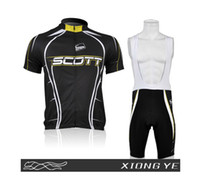 Wholesale Black scott team Cycling Jersey shorts set bicycle wear bicycle jersey Outdoor Sports
