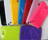 Wholesale case for Samsung Galaxy Note N7000 i9220 Bling Shiny Glossy skin Soft TPU Gel Back cover