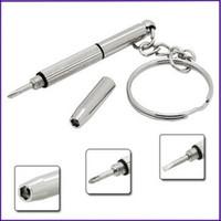 Wholesale mini screwdriver glass screwdriver keychain keyring key chain ring