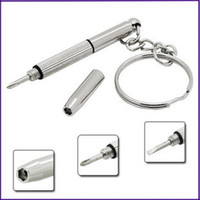 Wholesale mini screwdriver glass screwdriver keychain keyring key chain ring