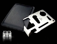 Wholesale Multipurpose pocket survival tool card knife outdoor survival