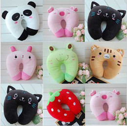 Wholesale Embroidery Children neck support pillow toys kids neck Guard rug infant pillows baby plush toy