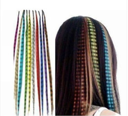 Wholesale Stylish Feathers Extensions Synthetic Rooster Feather Hair Extension