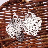 Wholesale Dangle Earrings Leaf Style New Fashion Ship From USA Pairs S01628