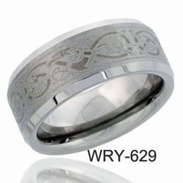 Tungsteno anillos de carburo de dragón en Línea-Anillo de tungsteno Anillos de láser de dragón céltico de carburo de tungsteno