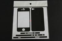 Wholesale 2012 New Carbon Fiber Vinyl Skin Sticker Full Body Mobile Cell Phone Guard For iPhone G S