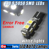 Wholesale OBC Error Free CANBUS T10 SMD LED w5w White light bulbs
