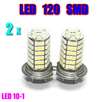 Wholesale 2pcs Car Auto H7 Xenon White Fog LED SMD Driving Head Light Lamp Bulb LED10 Globalink