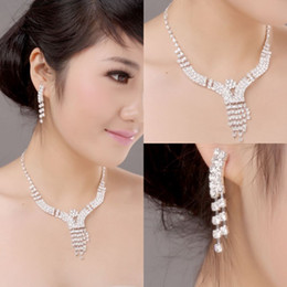 Wholesale 2012 New stlye earring necklace wedding eardrop wedding jewelry sets bridal jewelry