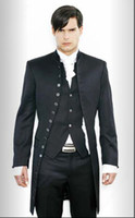 Wholesale New Mens stylish slim fit wedding Dress Suit Vest pants Clothes Pants Vest shirt