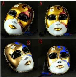 New Vintage God Of Music Men's Venetian Mask full face colored drawing mask Carnival Mask
