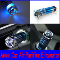 Wholesale Car oxygen bar Anion Ionizer Purifier Eliminator Auto Air Purifier Eliminator Ozone Guaranteed