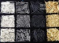 achat en gros de zinc boucles libres-Prix minimum garanti nouveau 1000pcs CCP basket-ball Wives boucles d'oreilles pointes perles Mix couleurs livraison gratuite