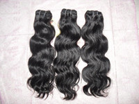 Wholesale 12 quot quot Indian Virgin Remy Hair Extensions Weave Weft Body Wave Natural Color MIX SIZE