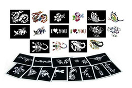 Wholesale 100pcs Big Size x15cm Tattoo Stencils for Body Painting Temporary Glitter Tattoo Kit