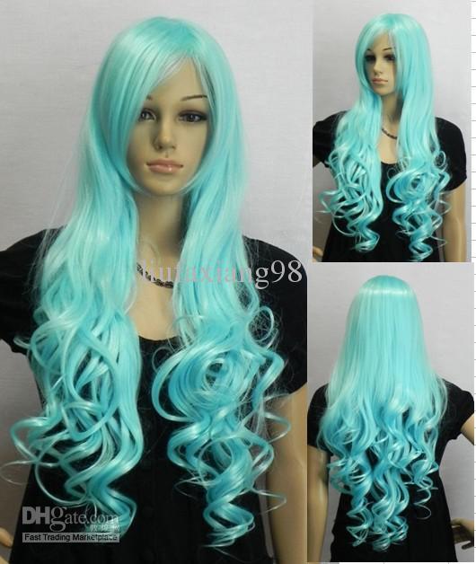 Long Blue Hair Cosplay 67