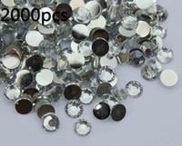 flat back gems - 2000pcs mm clear Flat Back Acrylic Rhinestones Gems For Nail art Scrapbooking