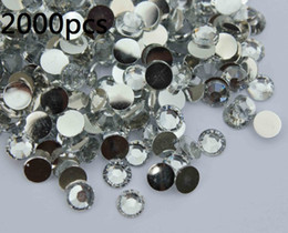 Wholesale 2000 mm clear Flat Back Acrylic Rhinestones Gems
