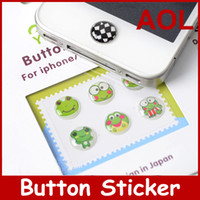 Wholesale 500pack stickers Home Cell phone Button Sticker for i M0bile Phone Many Teams YETTIDE