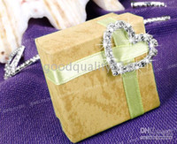 Wholesale 20pcs mm Heart Sparkle Rhinestone Ribbon Buckle Slider